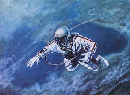 Космическая живопись - Соколов и Леонов